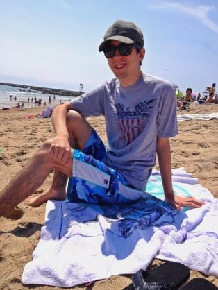Ray at the beach