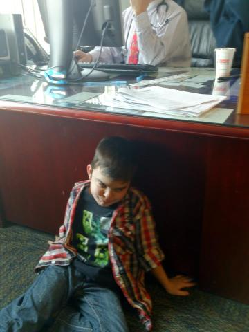 Dylan at the doctor's
